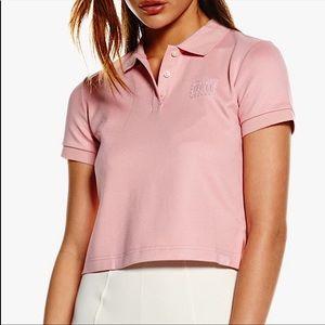 PUMA X RIHANNA   Pink cropped polo size XS
